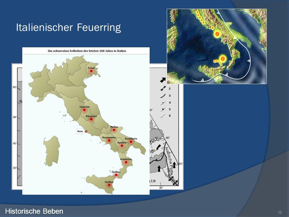 Italienischer Feuerring 10 Historische Beben