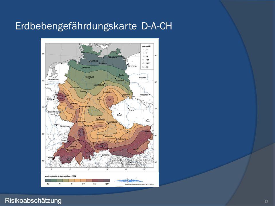 Erdbebengefährdungskarte D-A-CH 13 Risikoabschätzung