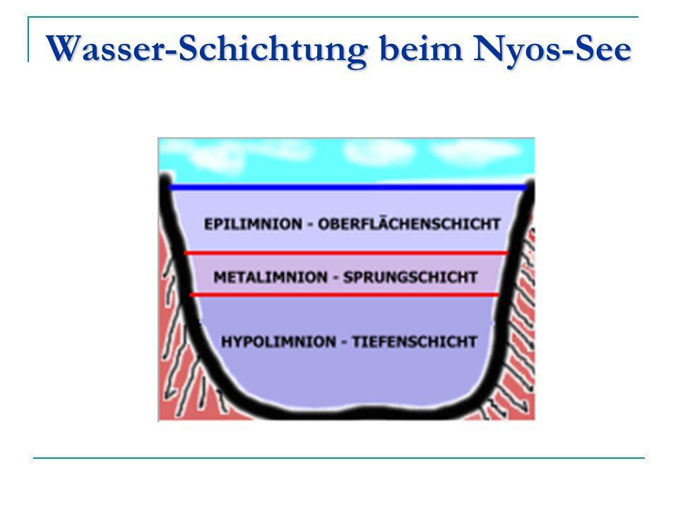 Wasser-Schichtung beim Nyos-See