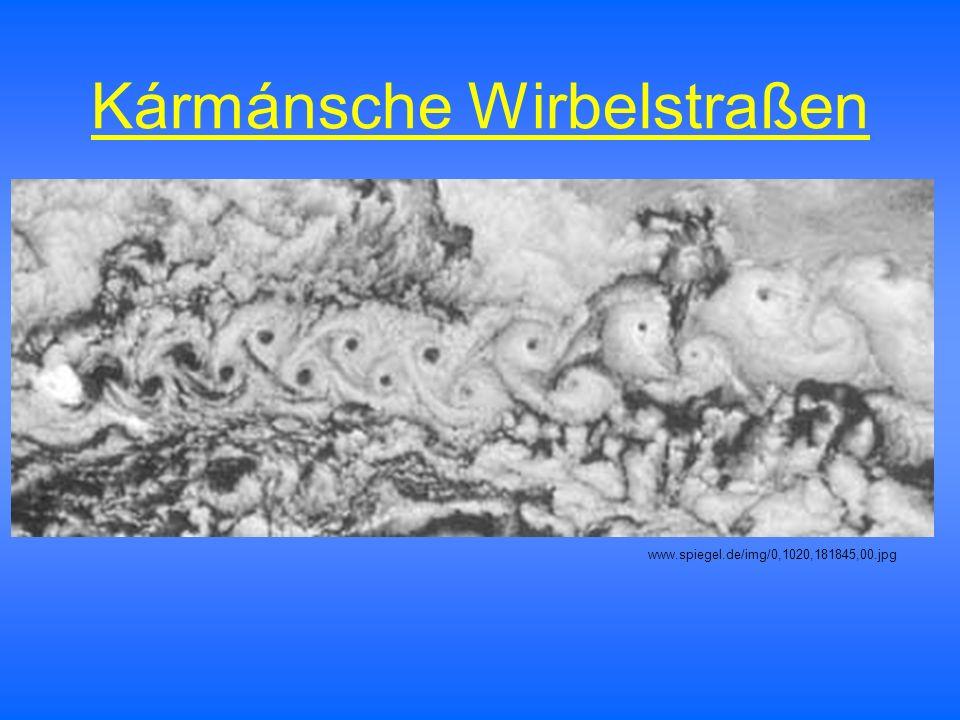 Kármánsche Wirbelstraßen www.spiegel.de/img/0,1020,181845,00.jpg