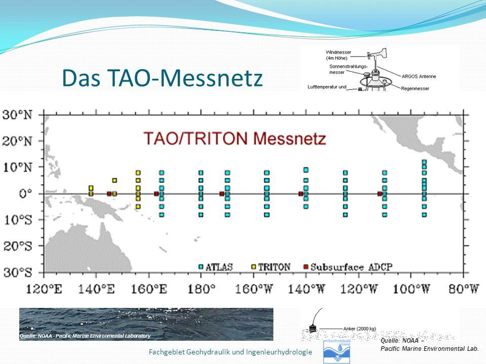 Das TAO-Messnetz Service an einer der Bojen des TAO-Messnetzes Quelle: NOAA - Pacific Marine Environmental Laboratory Quelle: NOAA – Pacific Marine En