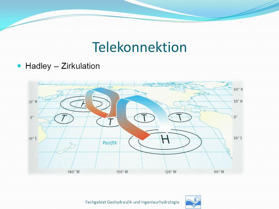 Telekonnektion Hadley – Zirkulation Fachgebiet Geohydraulik und Ingenieurhydrologie