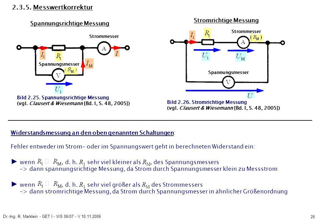 Dr.-Ing. R. Marklein - GET I - WS 06/07 - V 10.11.2006 26 2.3.5.