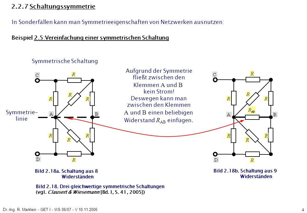 Dr.-Ing.R. Marklein - GET I - WS 06/07 - V 10.11.2006 25 2.3.5.