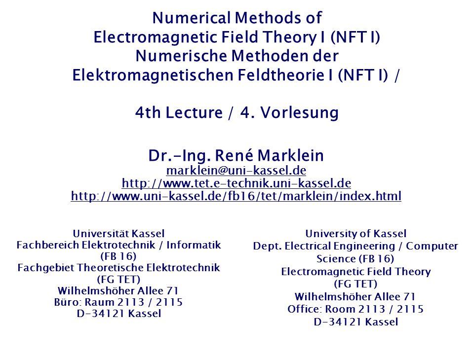 Derivation of the Stability Condition for the 1-D FD Scheme of 2nd Order / Ableitung der Stabilitätsbedingung für das 1D-FD-Schema 2ter Ordnung