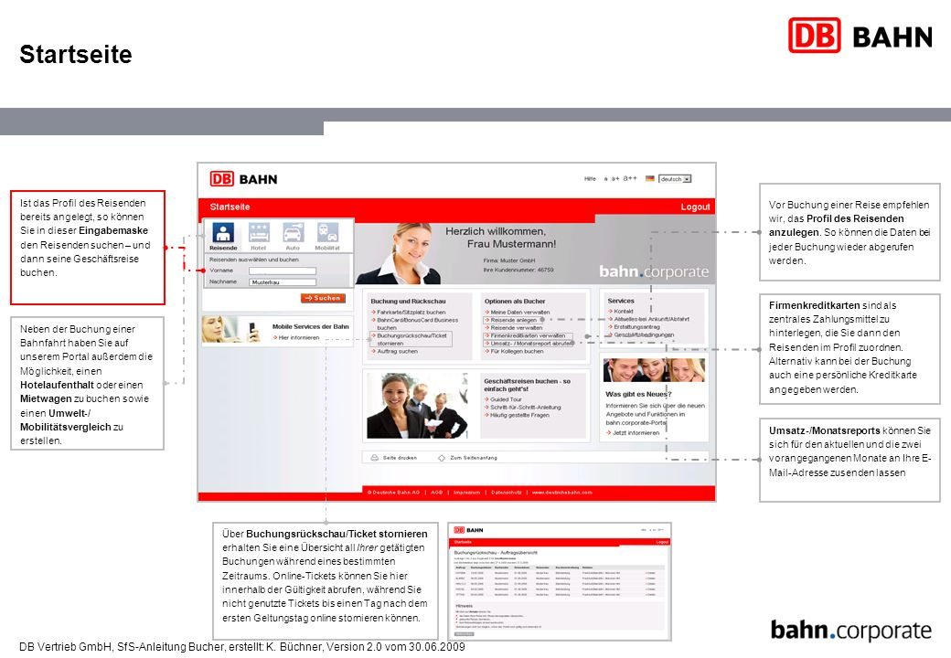 DB Vertrieb GmbH, SfS-Anleitung Bucher, erstellt: K.