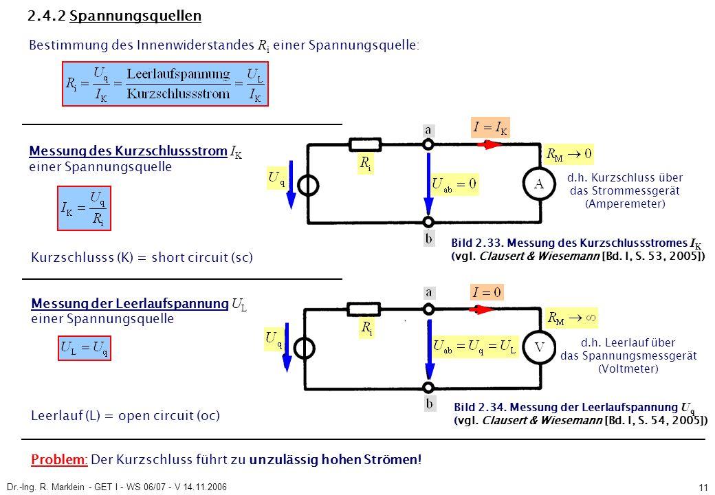 Dr.-Ing. R. Marklein - GET I - WS 06/07 - V 14.11.2006 11 Bild 2.33.