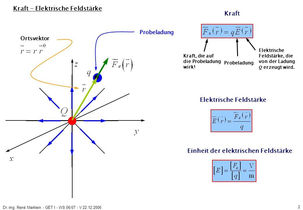 Dr.-Ing.René Marklein - GET I - WS 06/07 - V 22.12.2006 13 3.2.3 Potenzialfunktion (S.