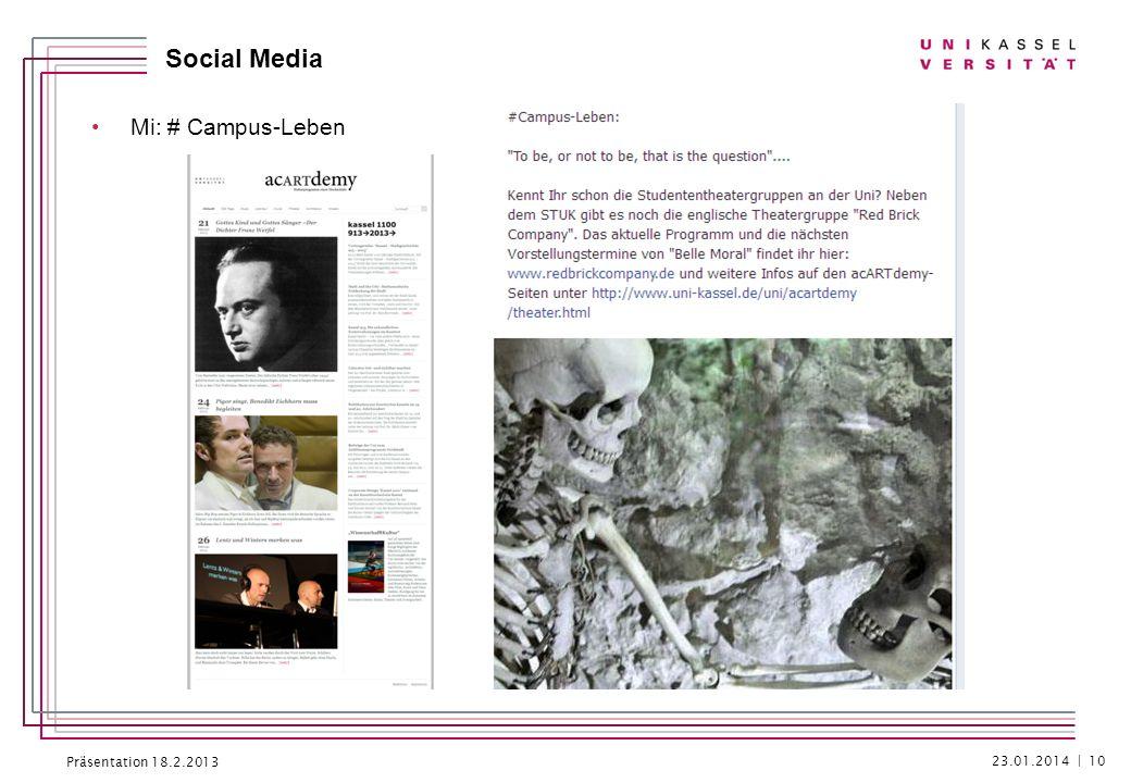 Präsentation 18.2.2013 Social Media Do: #Hörsaalluft 23.01.2014 | 11