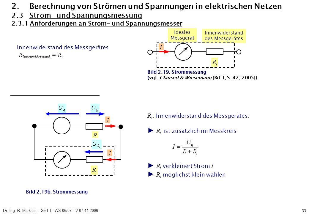 Dr.-Ing. R. Marklein - GET I - WS 06/07 - V 07.11.2006 33 2.