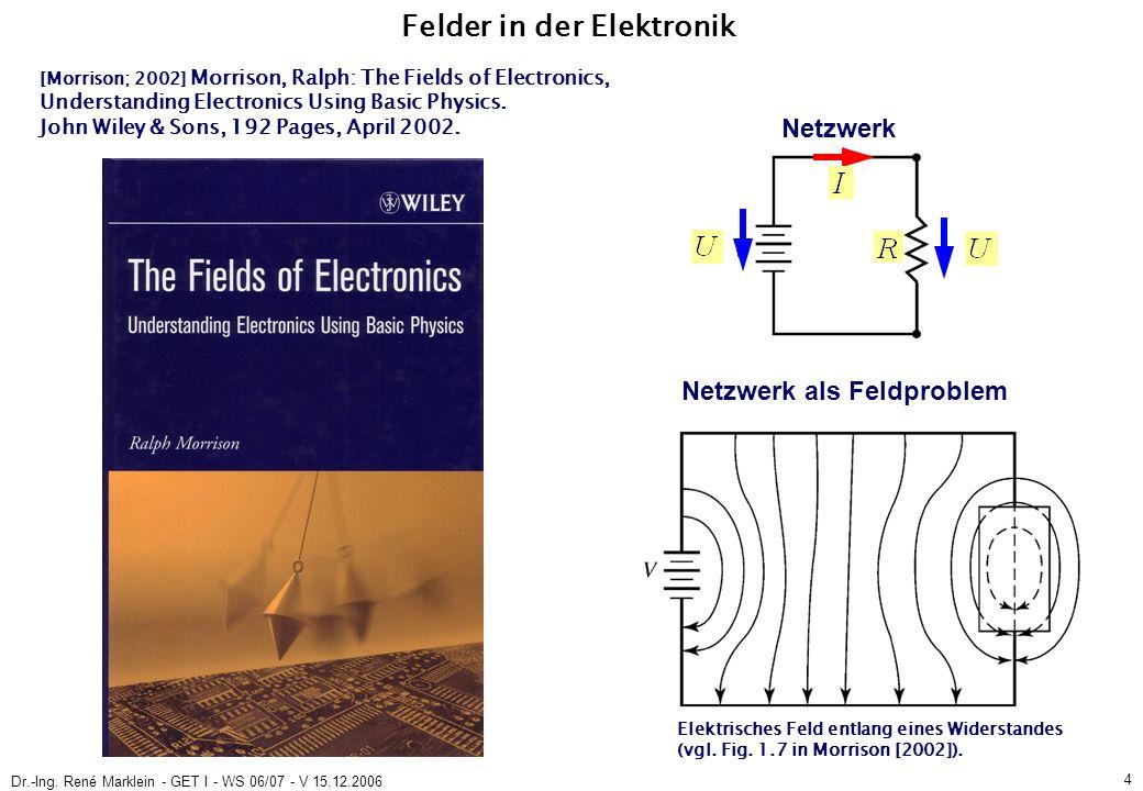 Dr.-Ing. René Marklein - GET I - WS 06/07 - V 15.12.2006 15 Ende der Vorlesung