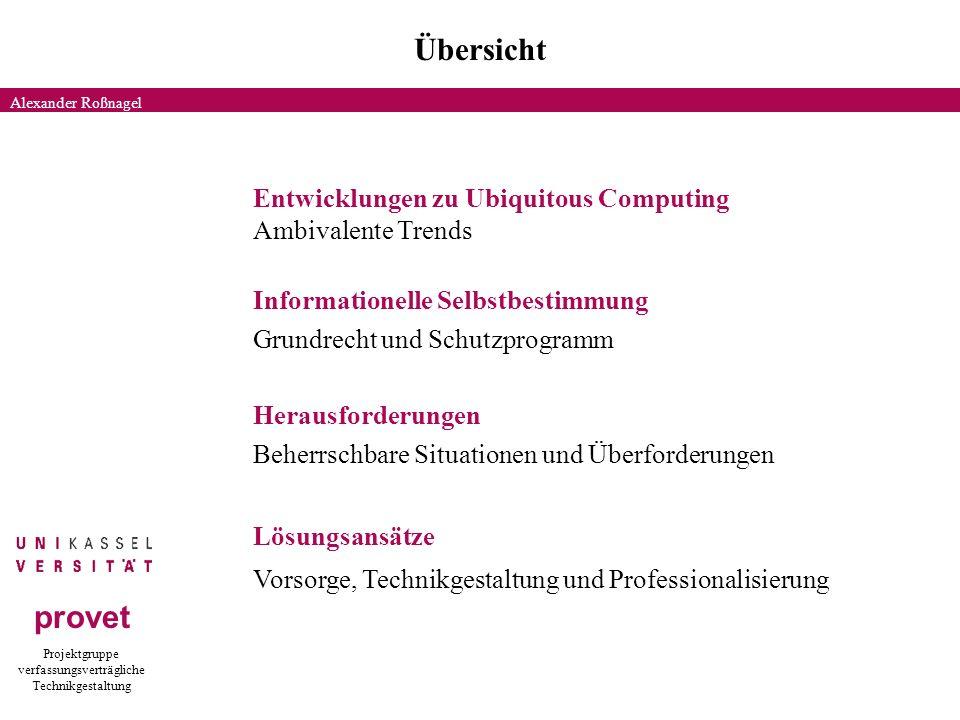 Projektgruppe verfassungsverträgliche Technikgestaltung provet 1.