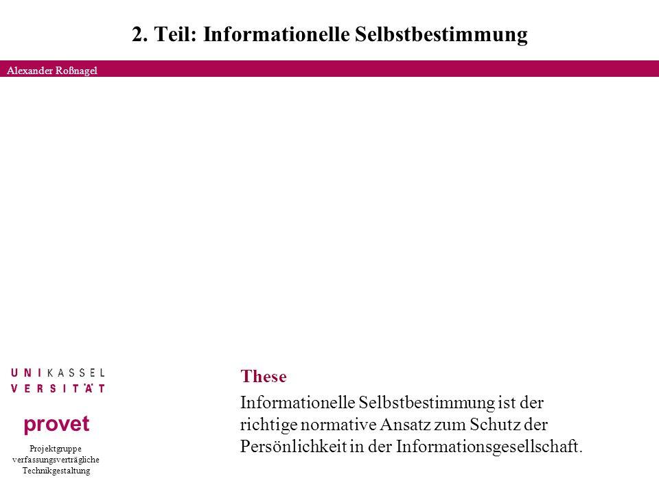Projektgruppe verfassungsverträgliche Technikgestaltung provet 2.