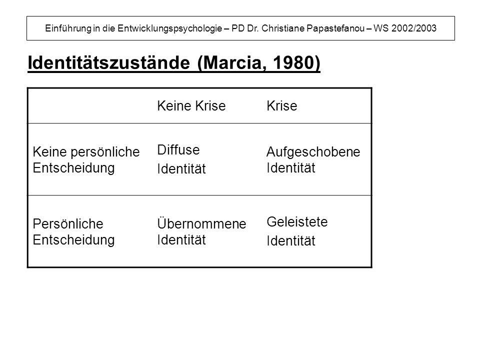 Einführung in die Entwicklungspsychologie – PD Dr.