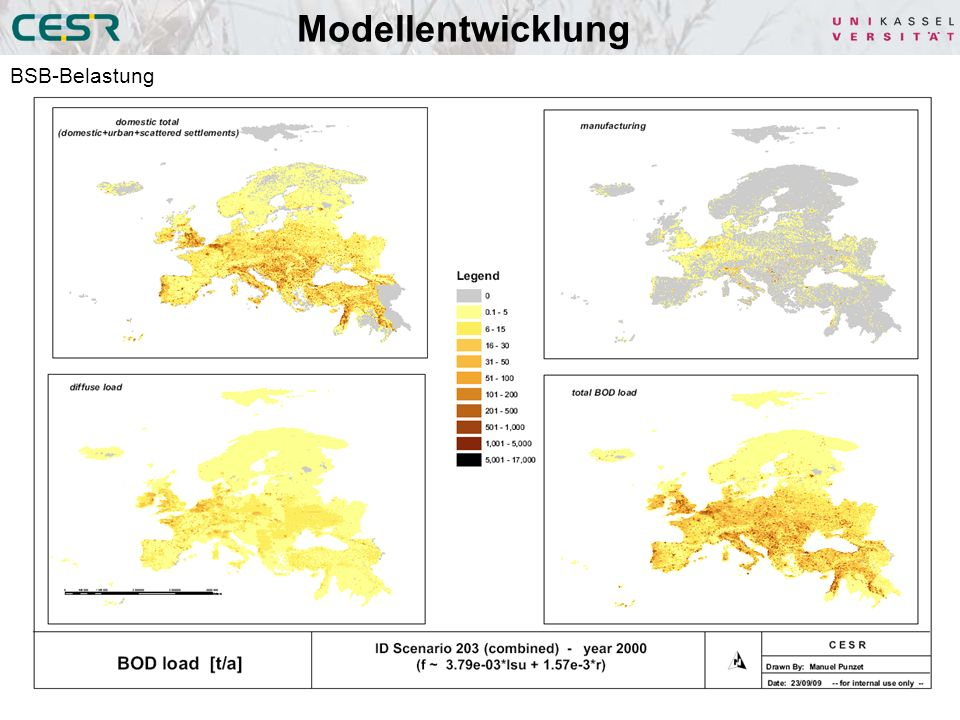 Modellentwicklung BSB-Belastung