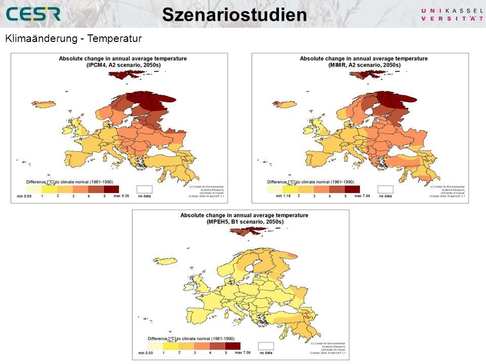 Szenariostudien Klimaänderung - Temperatur