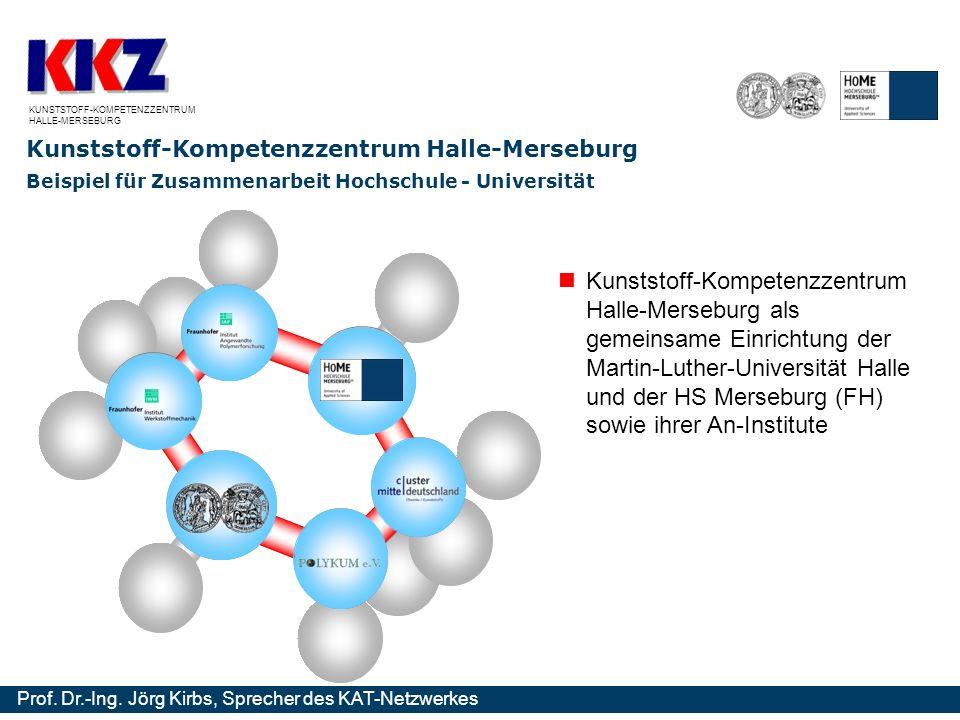 Kompetenznetzwerk für Angewandte und Transferorientierte Forschung Prof. Dr.-Ing. Jörg Kirbs, Sprecher des KAT-Netzwerkes Kunststoff-Kompetenzzentrum