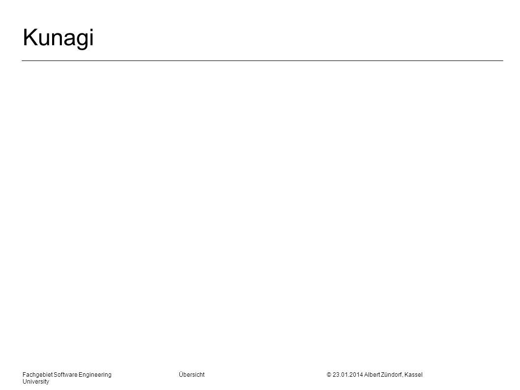 Fachgebiet Software Engineering Übersicht © 23.01.2014 Albert Zündorf, Kassel University Kunagi
