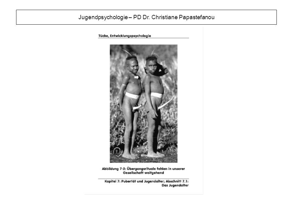 Jugendpsychologie – PD Dr. Christiane Papastefanou