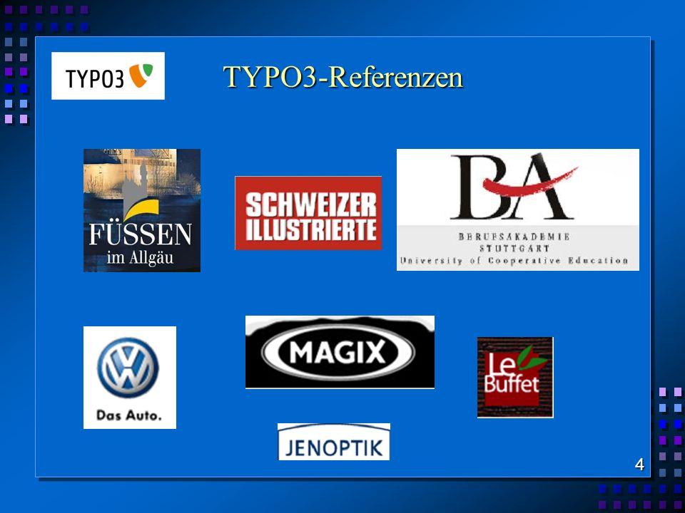 TypoScript (TS) Was ist TypoScript? Ausgabe einer Web-Site TS - Anweisung PHP - Skript 15