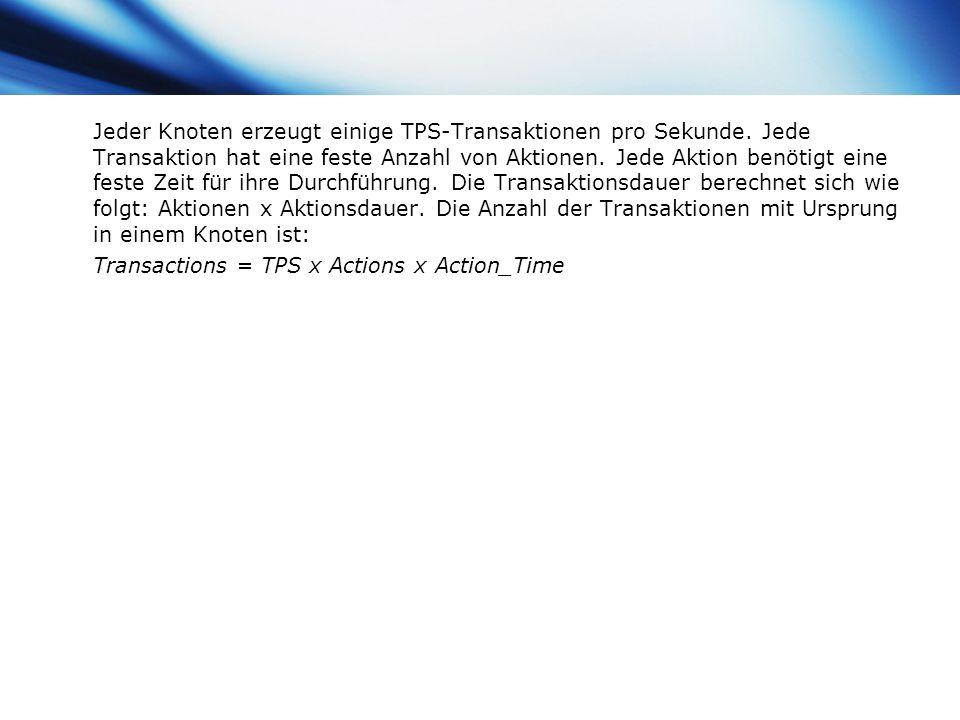 www.themegallery.com Company Logo Jeder Knoten erzeugt einige TPS-Transaktionen pro Sekunde. Jede Transaktion hat eine feste Anzahl von Aktionen. Jede