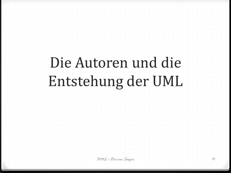 Die Autoren und die Entstehung der UML UML - Florian Seeger14