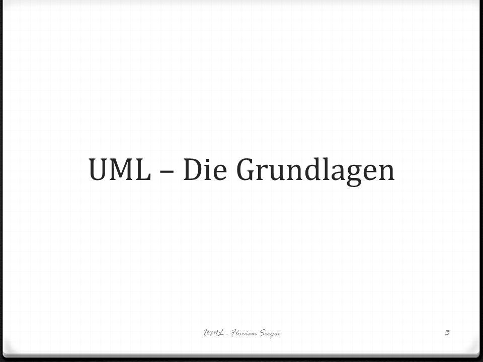 UML – Die Grundlagen UML - Florian Seeger3
