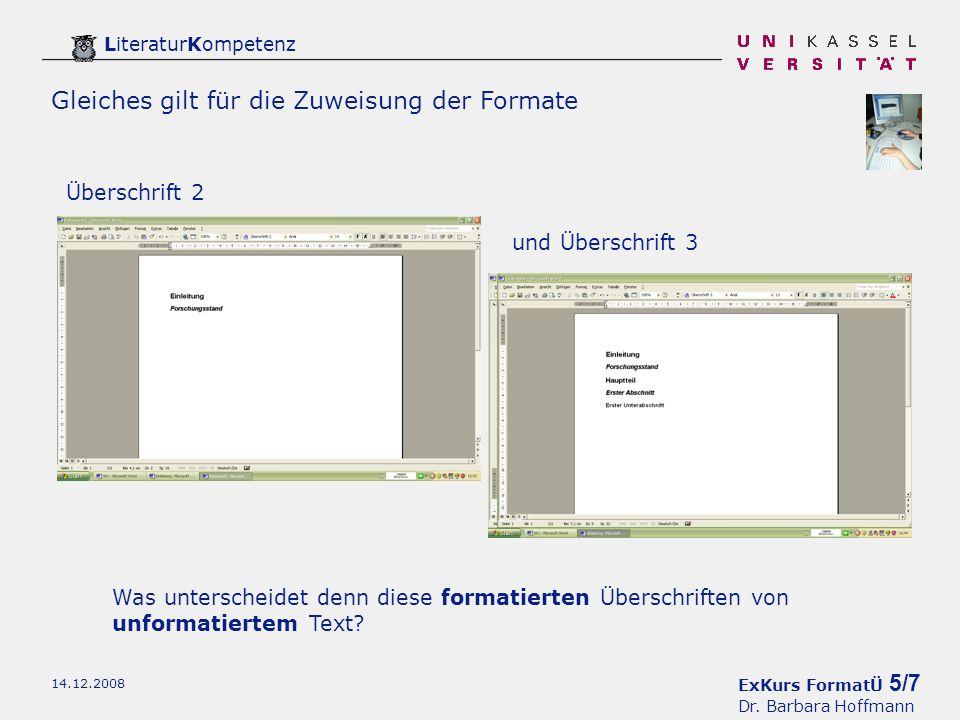 ExKurs FormatÜ 5/7 Dr.