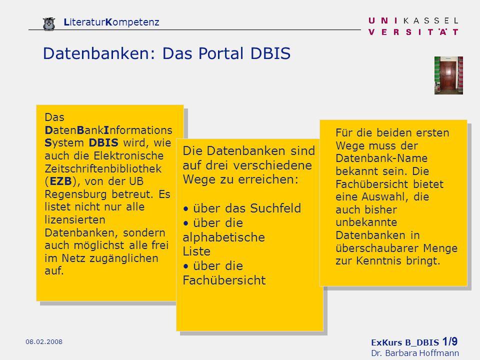 ExKurs B_DBIS 2/9 Dr.