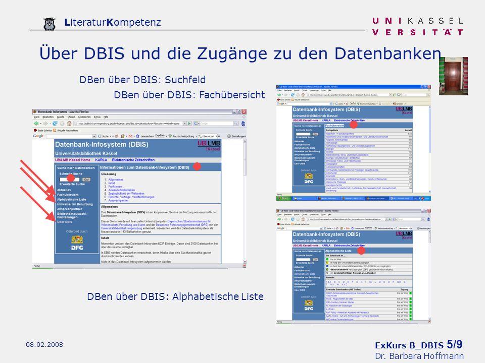 ExKurs B_DBIS 6/9 Dr.