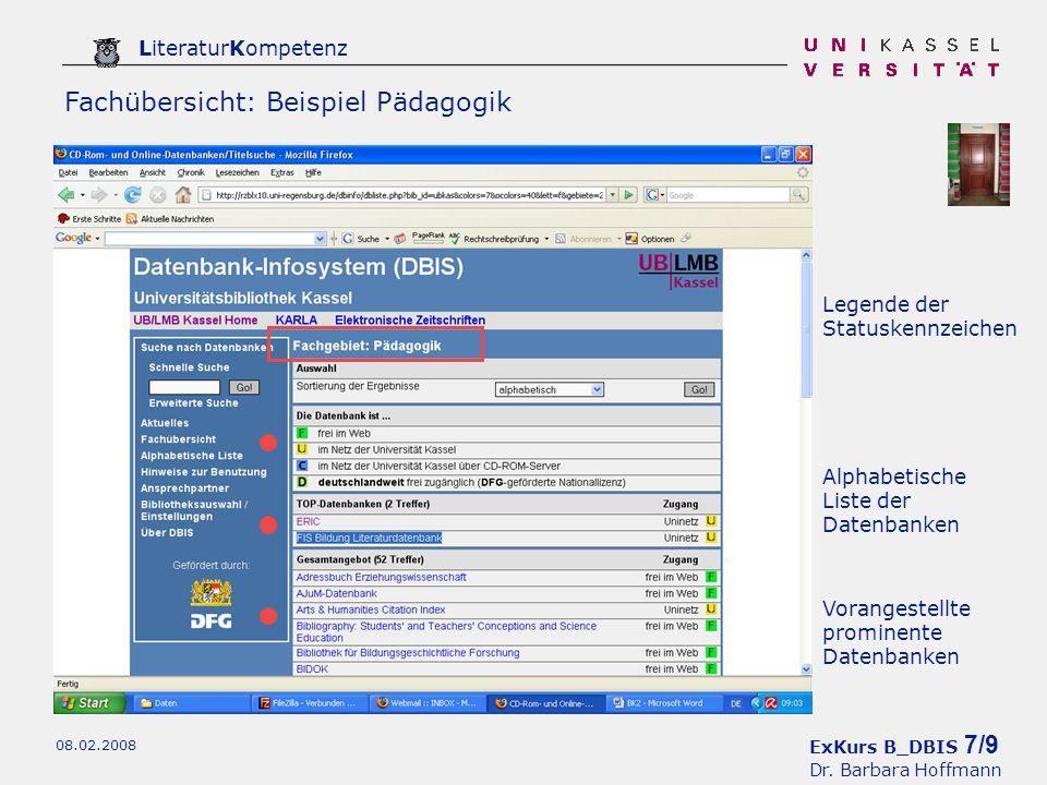 ExKurs B_DBIS 8/9 Dr.