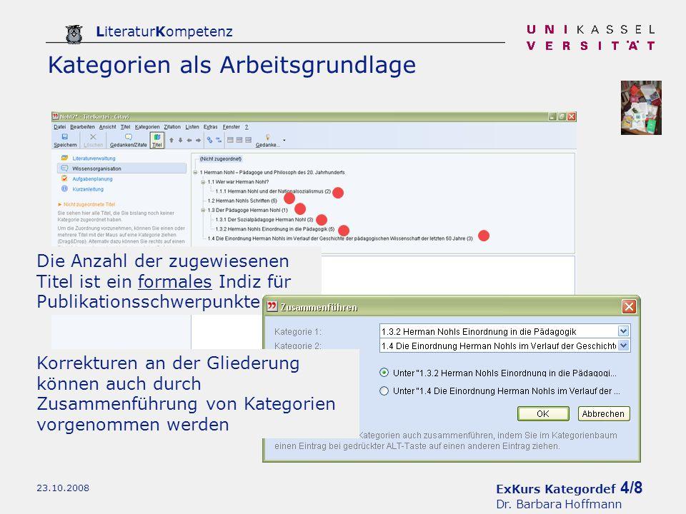 ExKurs Kategordef 4/8 Dr.