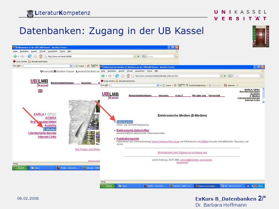 ExKurs B_Datenbanken 2/* Dr.