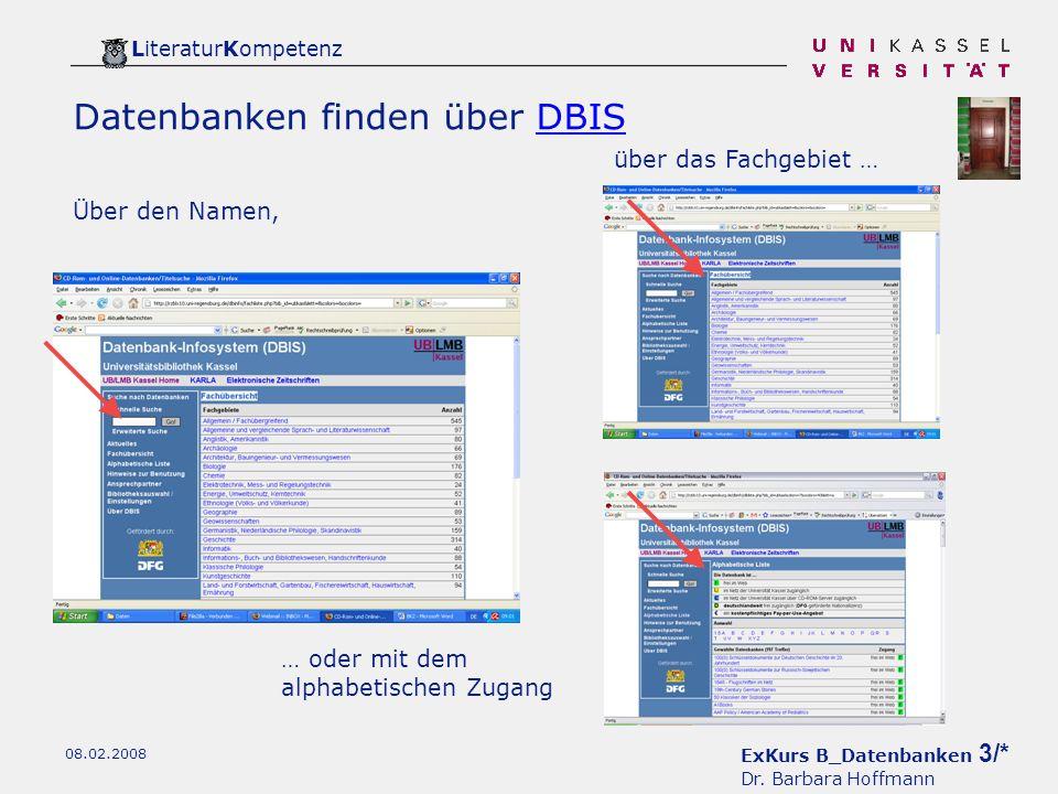 ExKurs B_Datenbanken 3/* Dr.