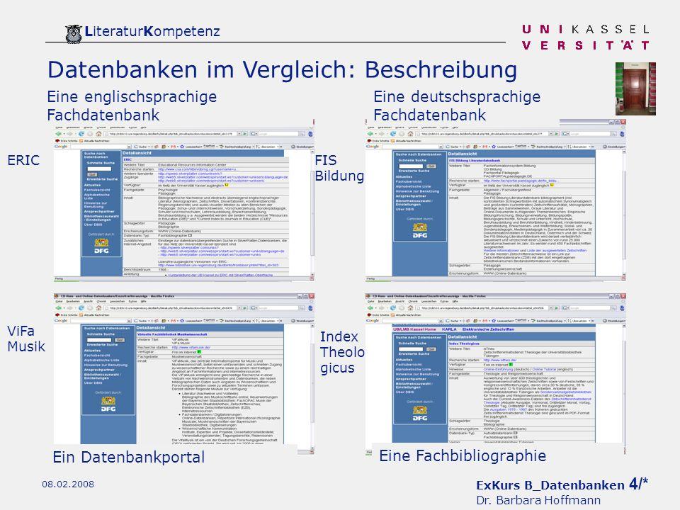 ExKurs B_Datenbanken 4/* Dr.
