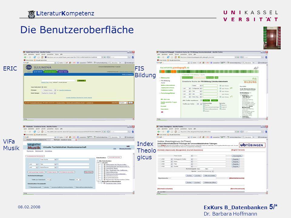 ExKurs B_Datenbanken 5/* Dr.
