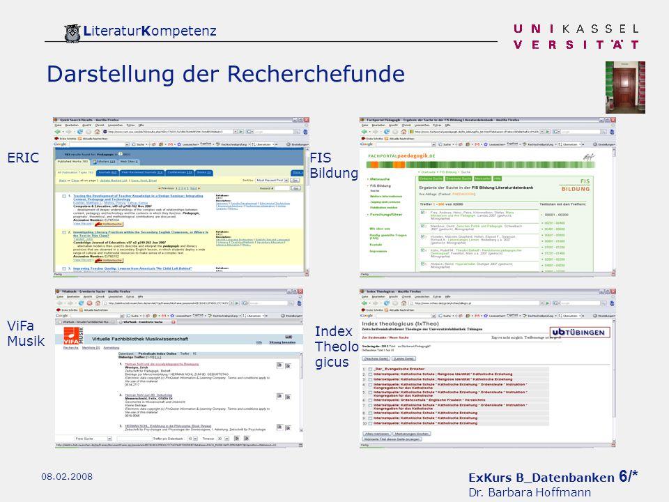ExKurs B_Datenbanken 6/* Dr.