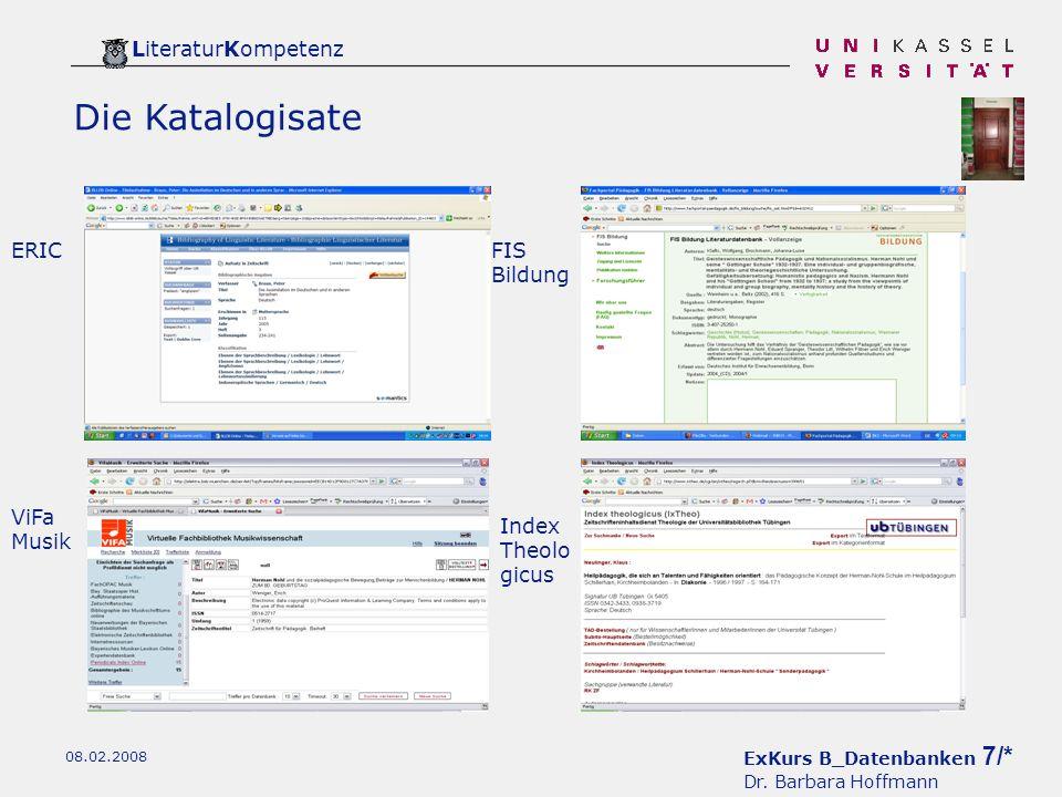 ExKurs B_Datenbanken 7/* Dr.