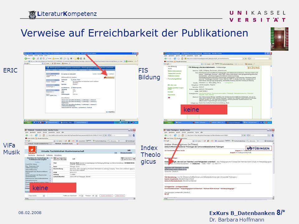 ExKurs B_Datenbanken 8/* Dr.