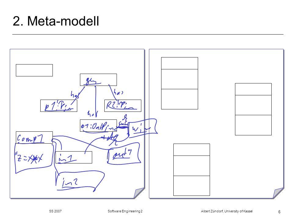 SS 2007 Software Engineering 2 Albert Zündorf, University of Kassel 47 Refactorings: merge Places m fasse zwei Stellen zu einer zusammen m Name der ersten m Transitionen von beiden