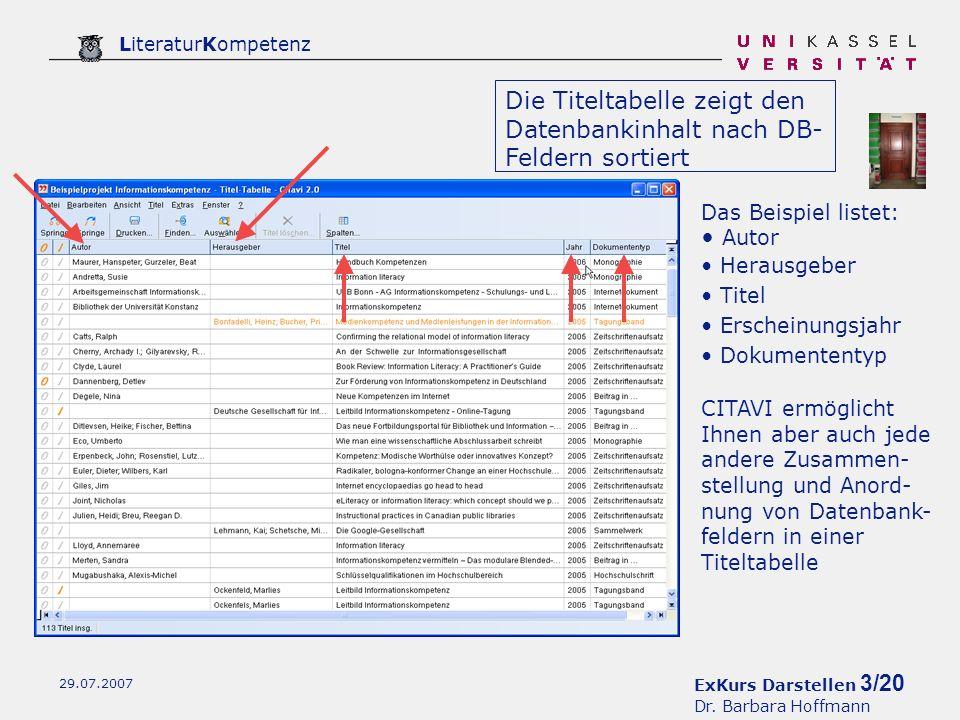ExKurs Darstellen 3/20 Dr.