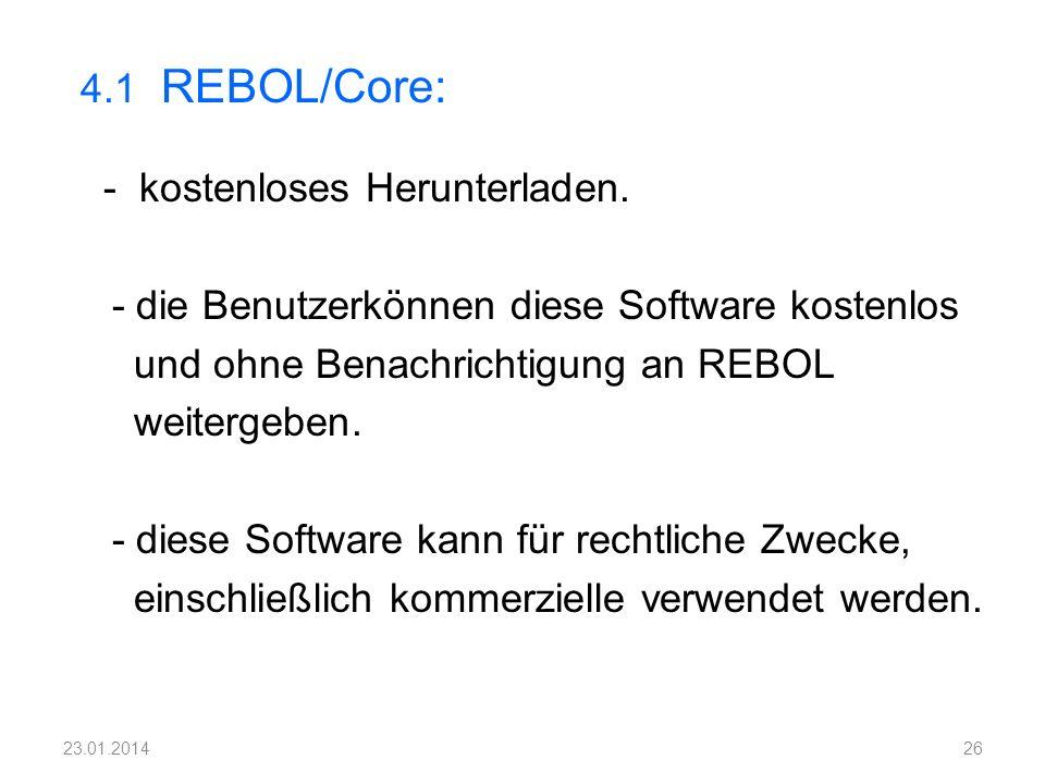 - kostenloses Herunterladen. - die Benutzerkönnen diese Software kostenlos und ohne Benachrichtigung an REBOL weitergeben. - diese Software kann für r