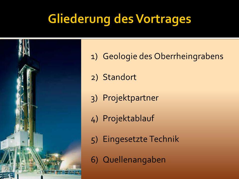 1)Geologie des Oberrheingrabens 2)Standort 3)Projektpartner 4)Projektablauf 5)Eingesetzte Technik 6)Quellenangaben