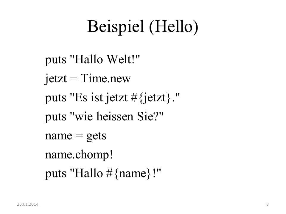 Beispiel (Hello) puts