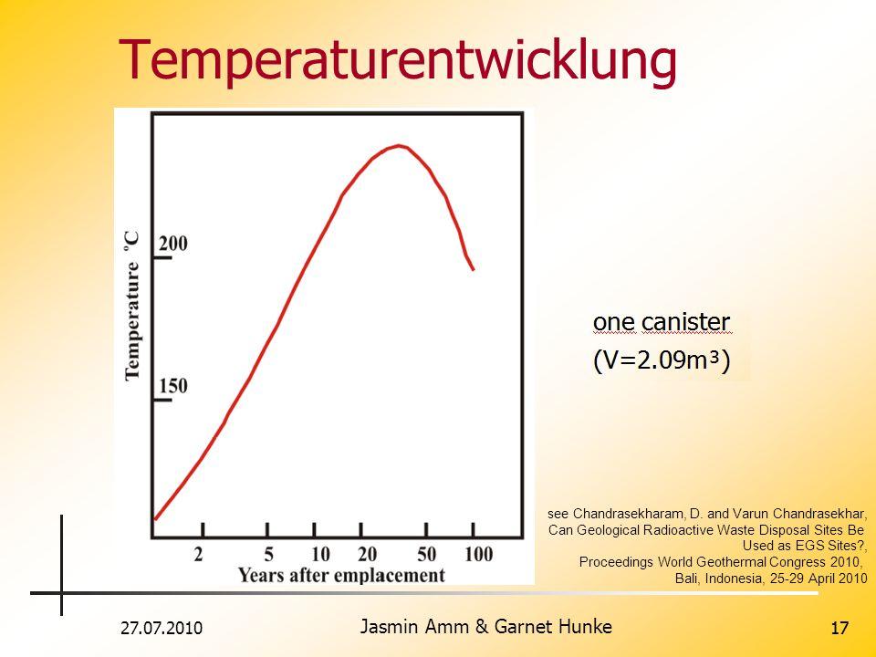 27.07.2010 Jasmin Amm & Garnet Hunke 17 Temperaturentwicklung h hohe T über see Chandrasekharam, D.