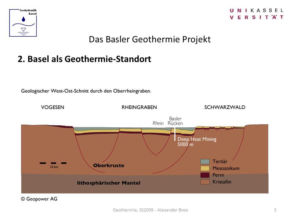 Das Basler Geothermie Projekt Geothermie, SS2009 - Alexander Boos 2. Basel als Geothermie-Standort 5