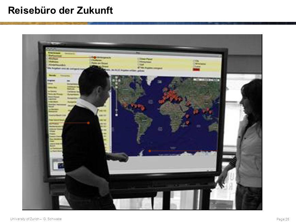 University of Zurich – G. Schwabe Page:25 Reisebüro der Zukunft