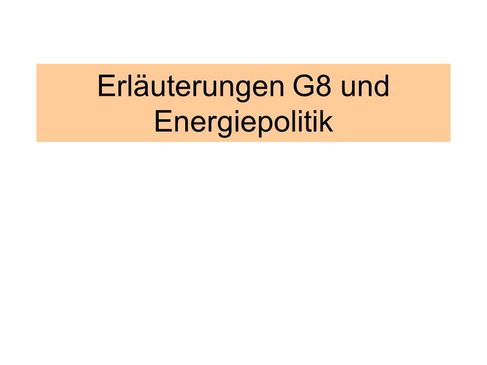 2 Überblick 1.Einige energiepolitische Daten 2.Folgen dieser Energiepolitik 3.Forderungen 4.Energiepolitik und G8 5.Resümee 6.Ausblick erneuerbare Energien WTO-AK Köln Erläuterungen G8 und Energiepolitik