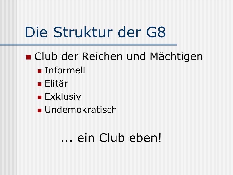 Der Club als Informelles Abstimmungsforum für Fragen......
