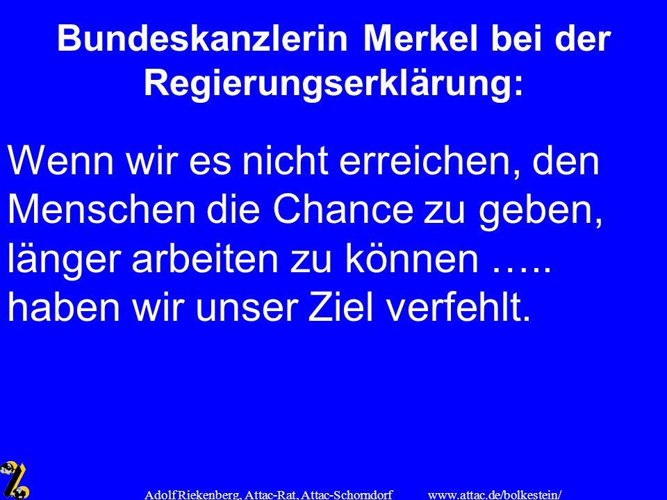 www.attac.de/bolkestein/ Adolf Riekenberg, Attac-Rat, Attac-Schorndorf Bundeskanzlerin Merkel bei der Regierungserklärung: Wenn wir es nicht erreichen